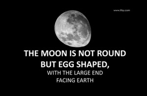 The Moon is not Round