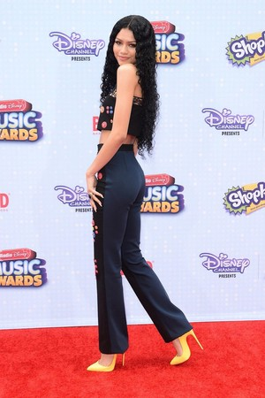 Zendaya on the Radio Disney Music Awards 2015 red carpet