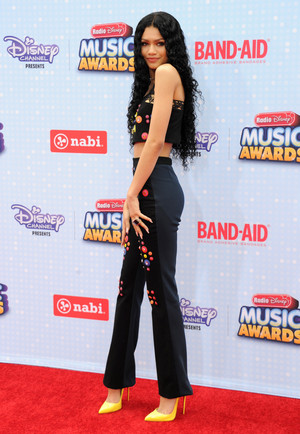 Zendaya on the Radio Disney Musica Awards 2015 red carpet