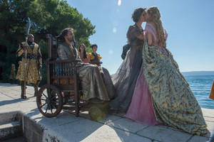 Ellaria and Doran with Sand Snakes and Myrcella