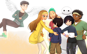 Hiro, the Team and Tadashi