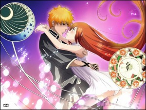 Ichigo and Orihime-Bleach (fanart)