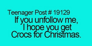 If you unfollow me......