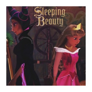 Rapunzel and Mother Gothel in Sleeping Beauty