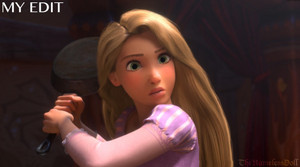 Rapunzel with realistic proportions