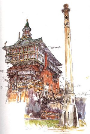 Spirited Away Concept Art