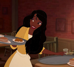 Tiana with Odette's hair
