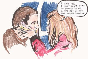 Cory and Topanga drawing