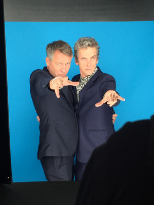 Peter Capaldi and Sean Pertwee