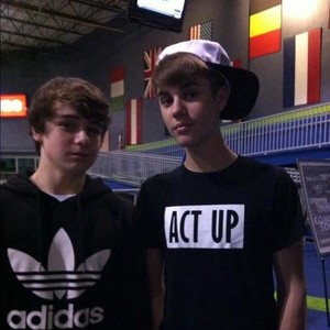 Christian Beadles and Justin Bieber