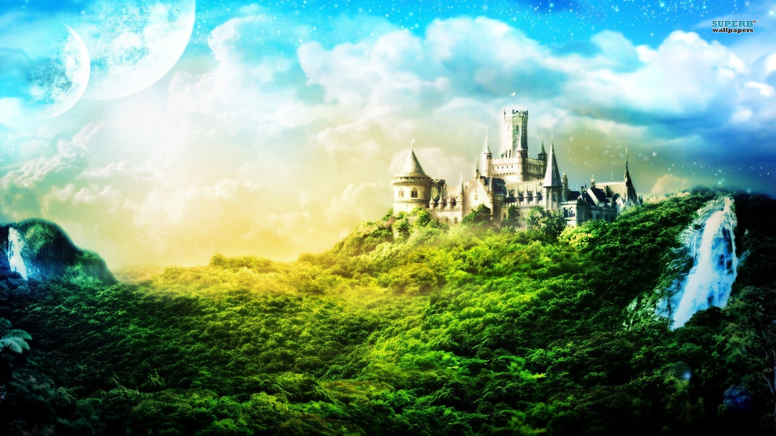 fantasy images fantasy castle hd wallpaper and background photos