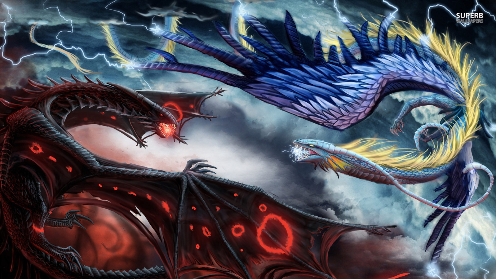 Fire And Ice Dragons Wallpaper 38725832 Fanpop