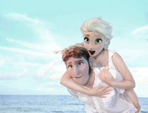 Hans and Elsa in summer