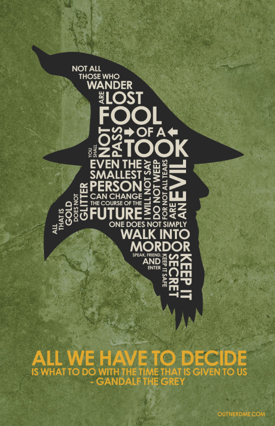 Lord of the Rings Quote Poster