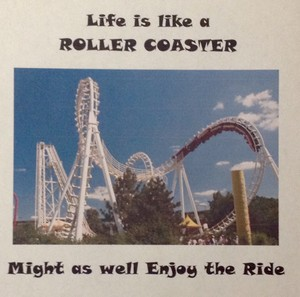 Roller Coaster Motivational Poster
