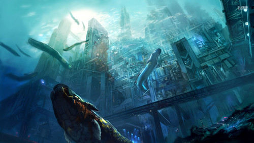 underwater city wallpaper images underwater city hd wallpaper and background 233