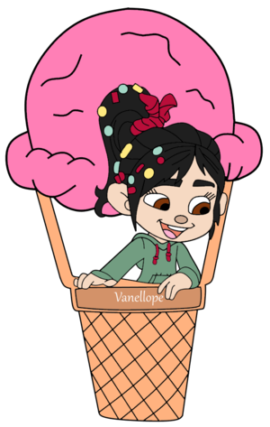 Vanellope on a Ice-Cream Balloon