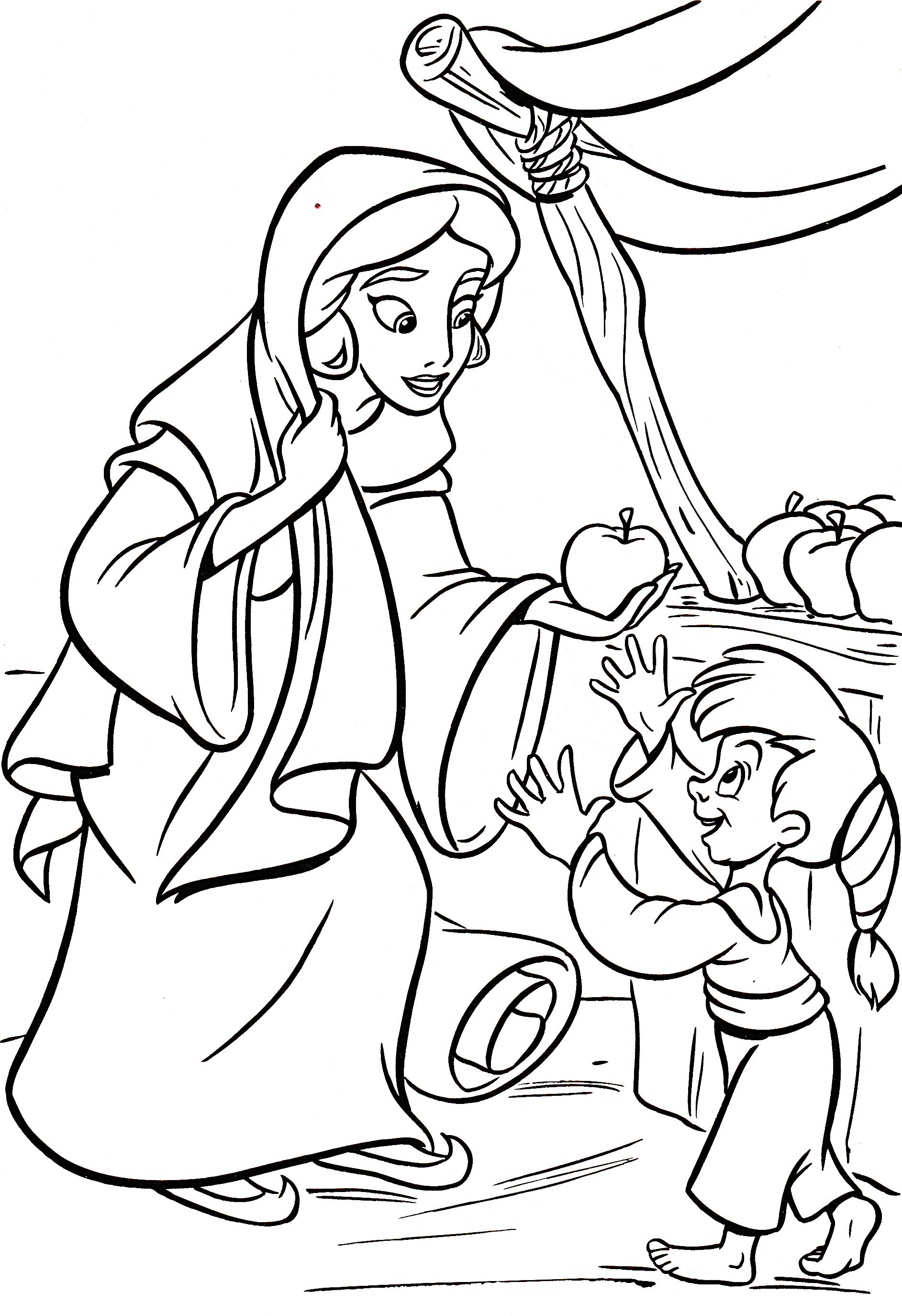 Walt Disney Coloring Pages - Princess Jasmine - Walt ...