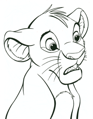 Walt ডিজনি Coloring Pages - Simba