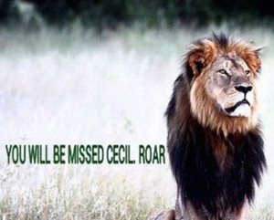 We'll miss you,Cecil....ROAR