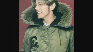David bowie in a fur coat