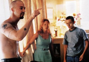 Edward Norton as Derek, Beverly D'Angelo as Doris and Edward Furlong as Danny Vinyard