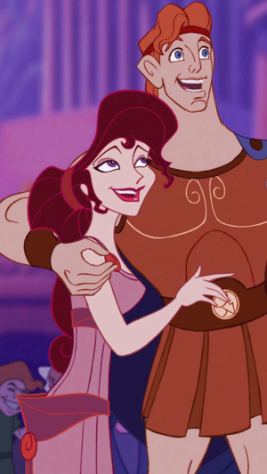 Hercules and Meg phone Обои
