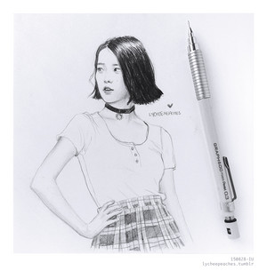 IU fanart by lycheepeaches