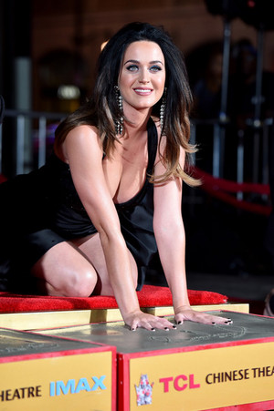 Katy hand print ceremony at TCL Chinese Theatre IMAX