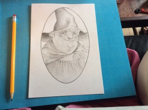 My drawing of Nanny Ogg. :)