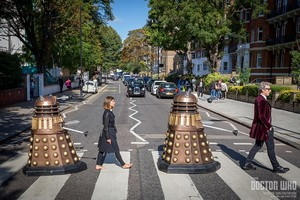 The Doctor and Clara made a guest appearance at the iconic Abbey Road