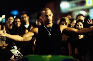 Vin Diesel as Dom Toretto in The Fast and the Furious