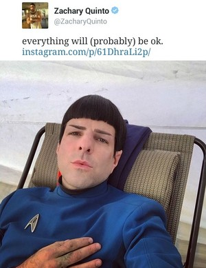 Zachary Quinto's Spock 2015