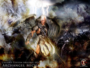 Calvin's Custom 1:6 one sixth scale original ubunifu Arnold as Archangel Michael