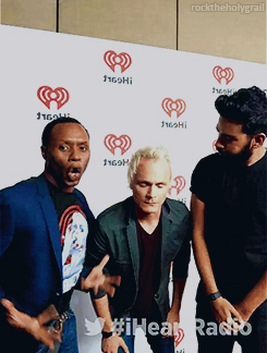 David, Rahul Kohli and Malcolm Goodwin at iHeartRadio Music Festival 2015
