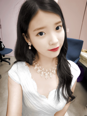 IU photo edited to black and to color photo