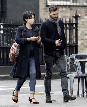 Jamie Dornan out and about with Amelia in London on October, 16