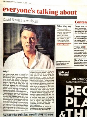 New Bowie album to be released on his birthday 2016!!