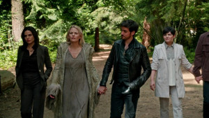 Regina, Emma, Snow, and Hook