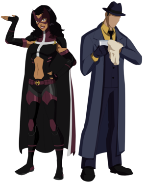 young justice huntress and the سوال