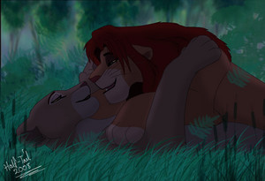 Simba and Nala having their moment together :^)