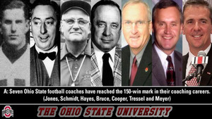 COACHES OF THE BUCKEYES TO REACH 150 VICTORIES
