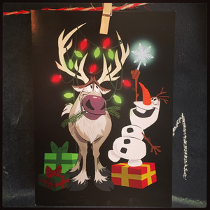 Frozen Holiday Card