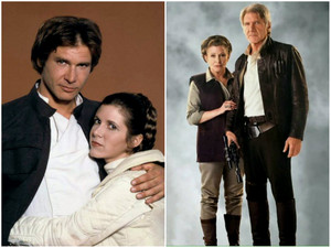 Han and Leia ~Then/Now