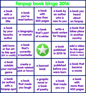 Fanpop Book Bingo 2016