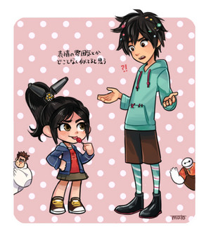 Hiro and Vanellope