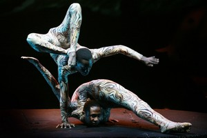 Male contortion duet