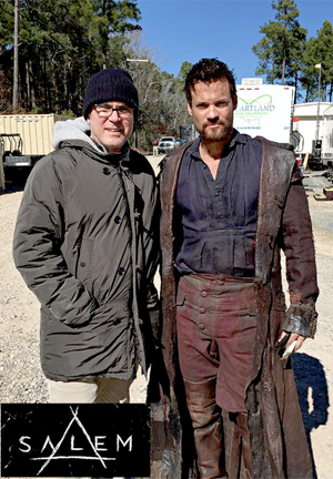 Shane West on set