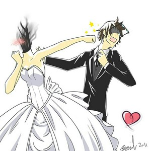 Shinra x Celty Wedding