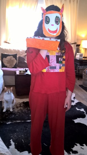 Stampy mask, cake and little stampy